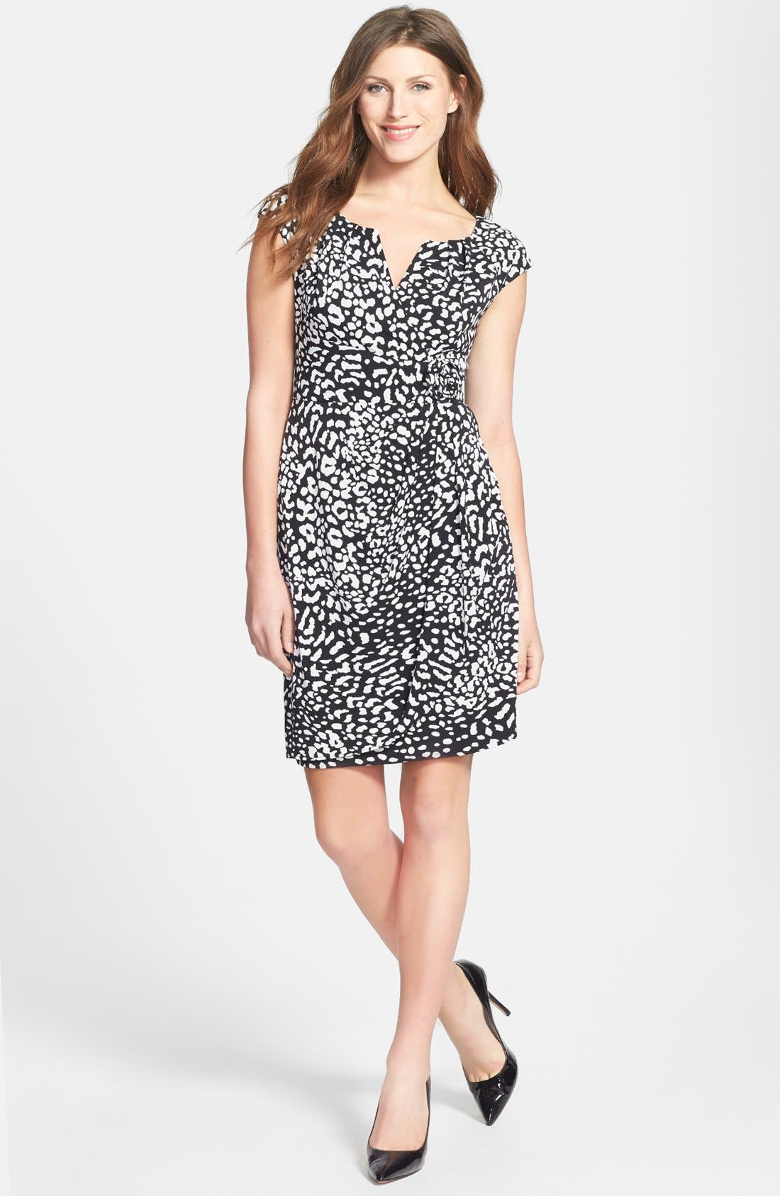 Alternate Image 2  - Adrianna Papell Side Ruched Jersey Dress