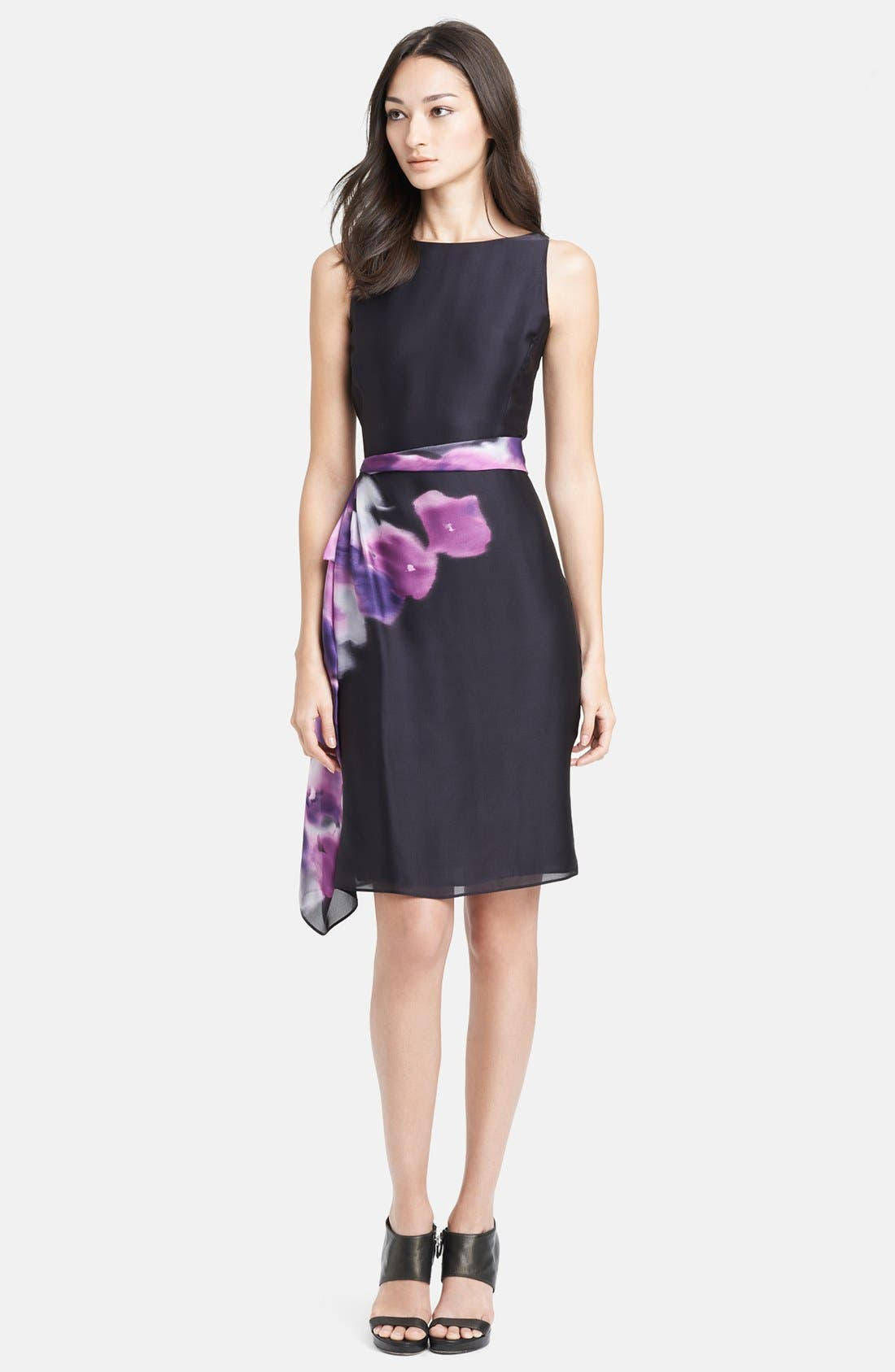 Alternate Image 1 Selected - Armani Collezioni Print Side Drape Silk Dress
