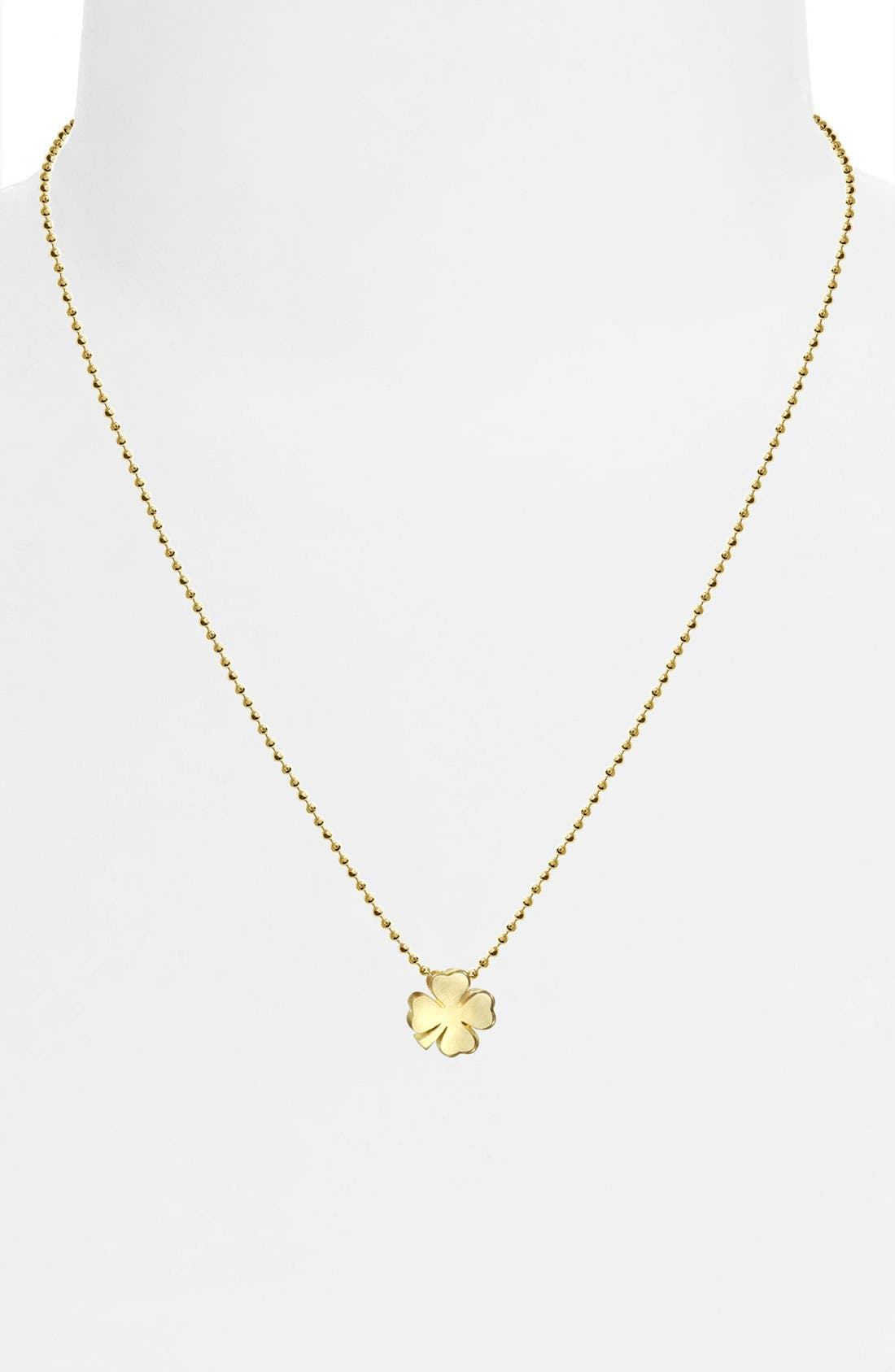 Alternate Image 2  - Alex Woo 'Little Luck' Clover Pendant Necklace