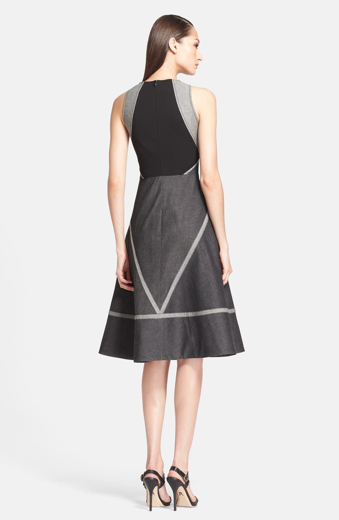 Alternate Image 2  - Donna Karan New York Stretch Denim & Jersey Dress