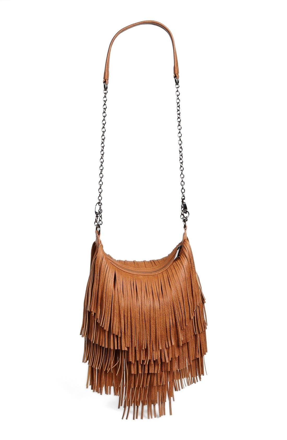 Alternate Image 1 Selected - Steve Madden 'Bmocha' Fringe Crossbody Bag