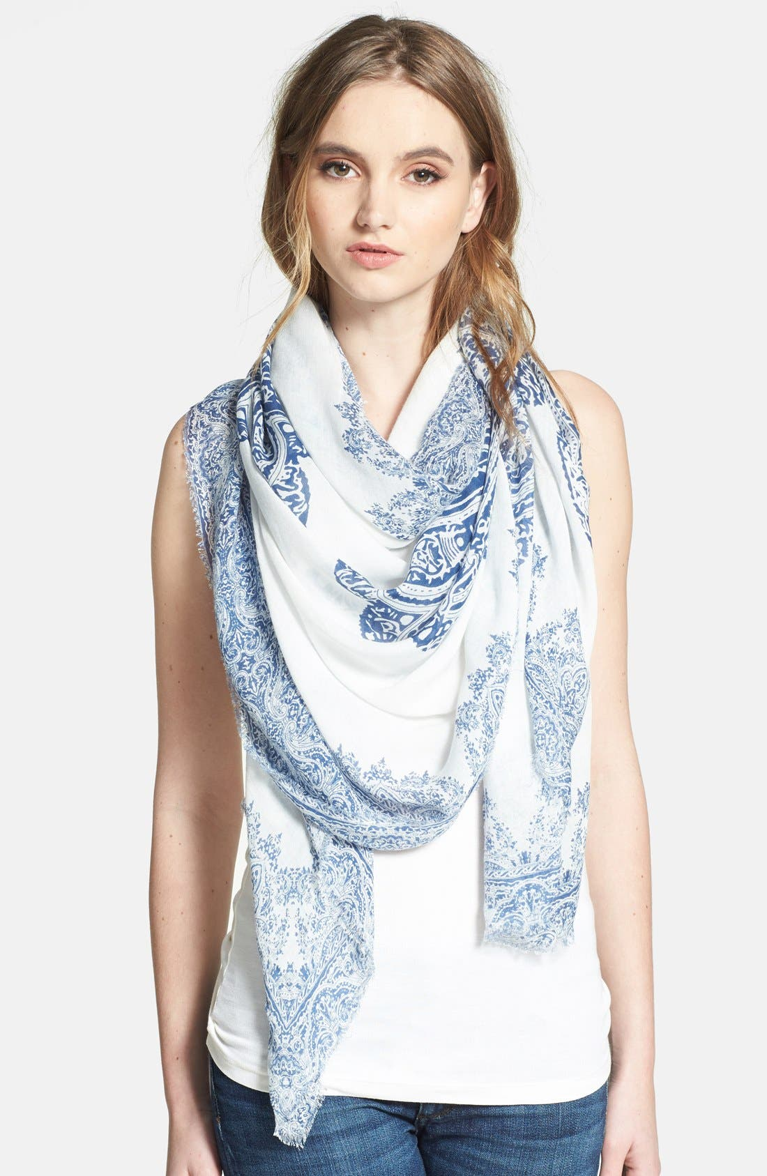 Alternate Image 1 Selected - Brazen 'Floral Tattoo' Scarf