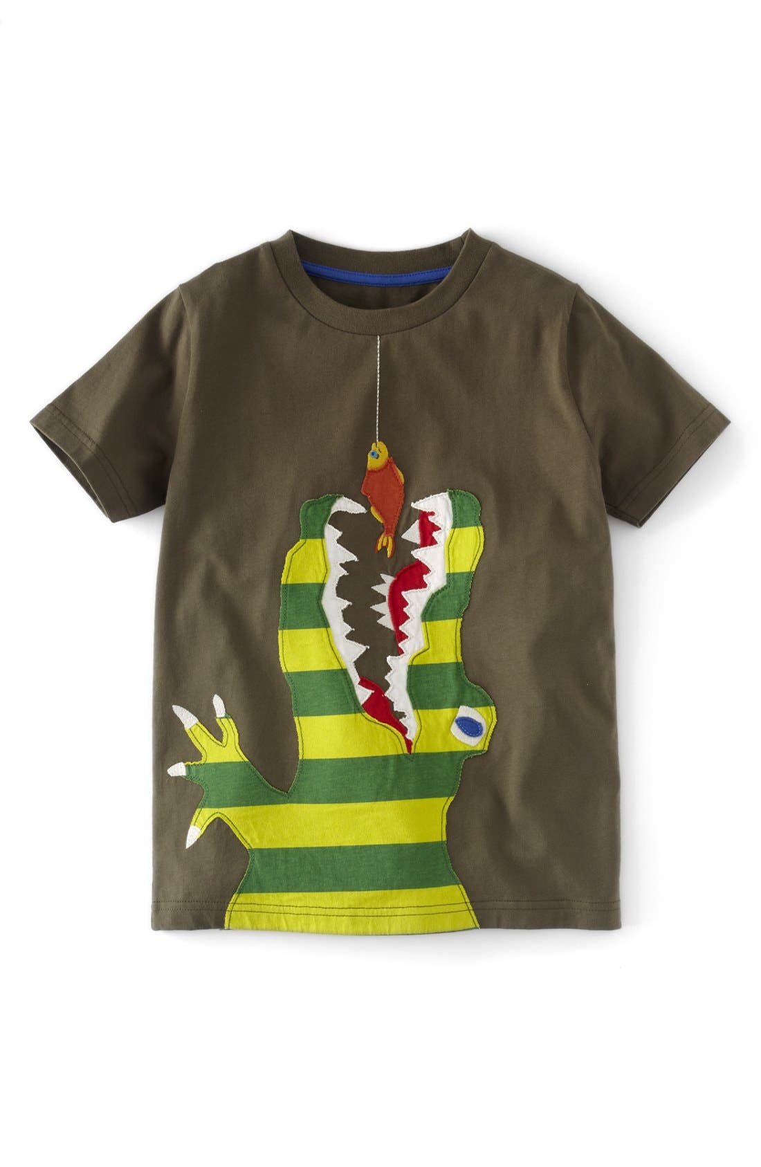 Alternate Image 1 Selected - Mini Boden 'Big Appliqué' Short Sleeve T-Shirt (Toddler Boys, Little Boys & Big Boys)
