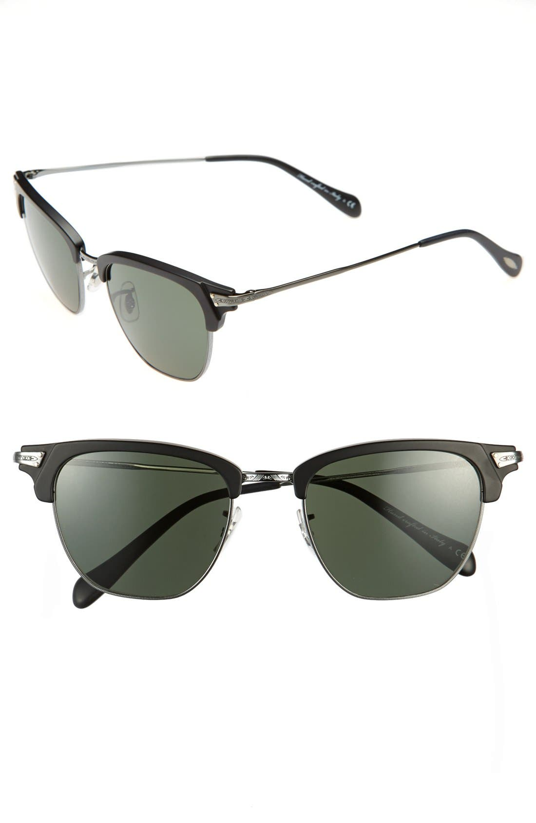 Alternate Image 1 Selected - Oliver Peoples 'Banks' 49mm Sunglasses