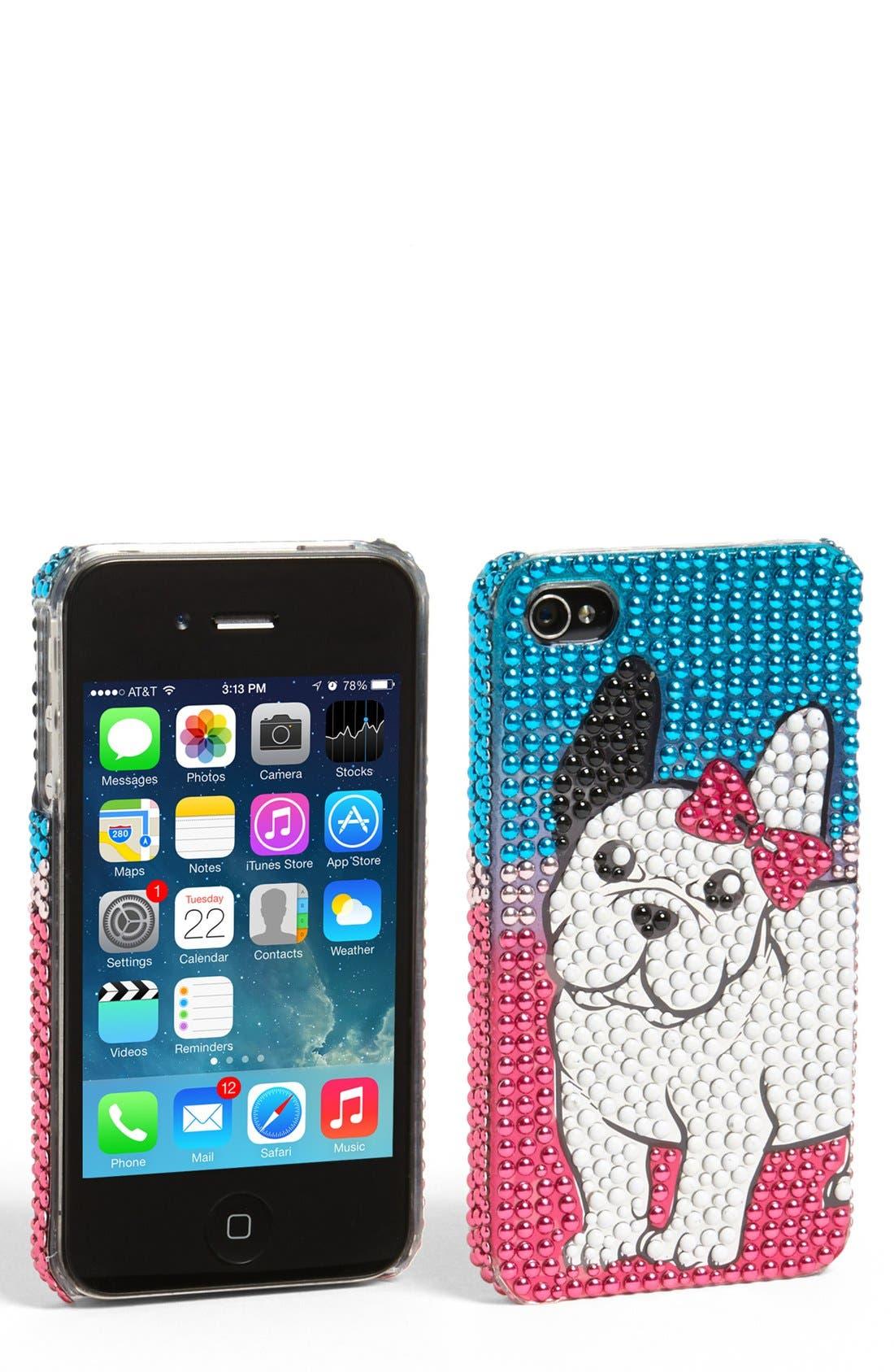 Alternate Image 1 Selected - Tri-Coastal Design Dog iPhone 4 Case (Juniors) (Online Only)