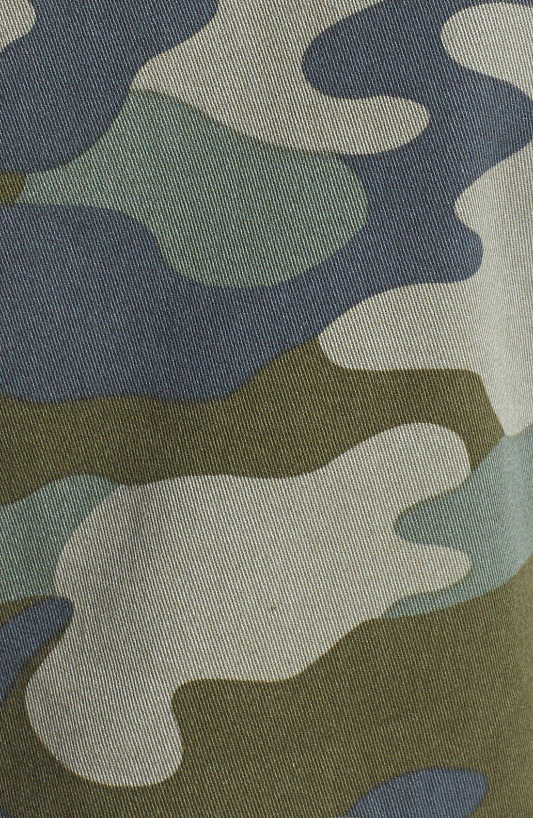 Alternate Image 3  - Halogen® Stretch Cotton Twill Military Jacket (Regular & Petite)