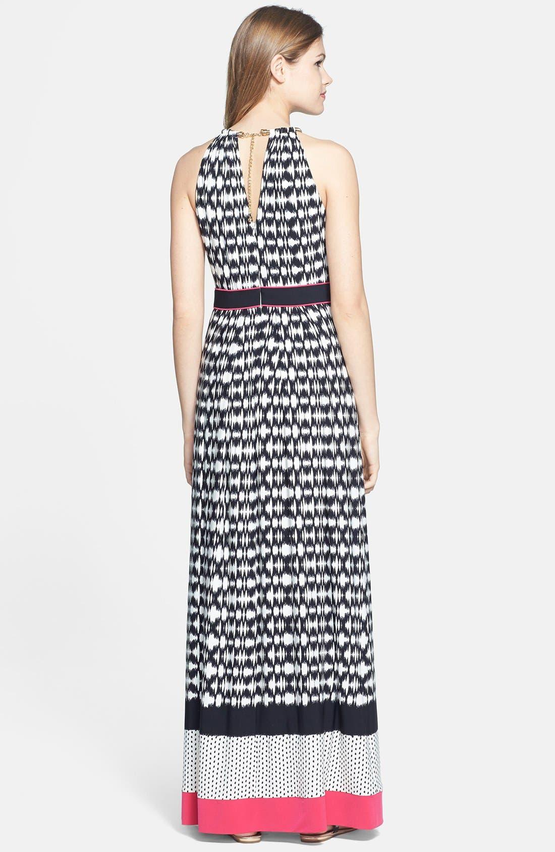 Alternate Image 2  - Eliza J Metallic Neckline Sleeveless Maxi Dress