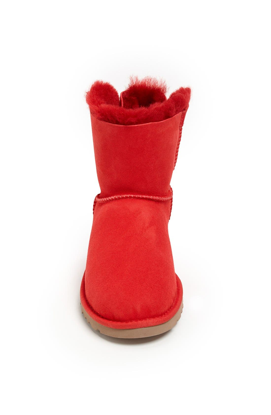 Australia 'Mini Bailey Button Bow' Boot,                             Alternate thumbnail 3, color,                             Red