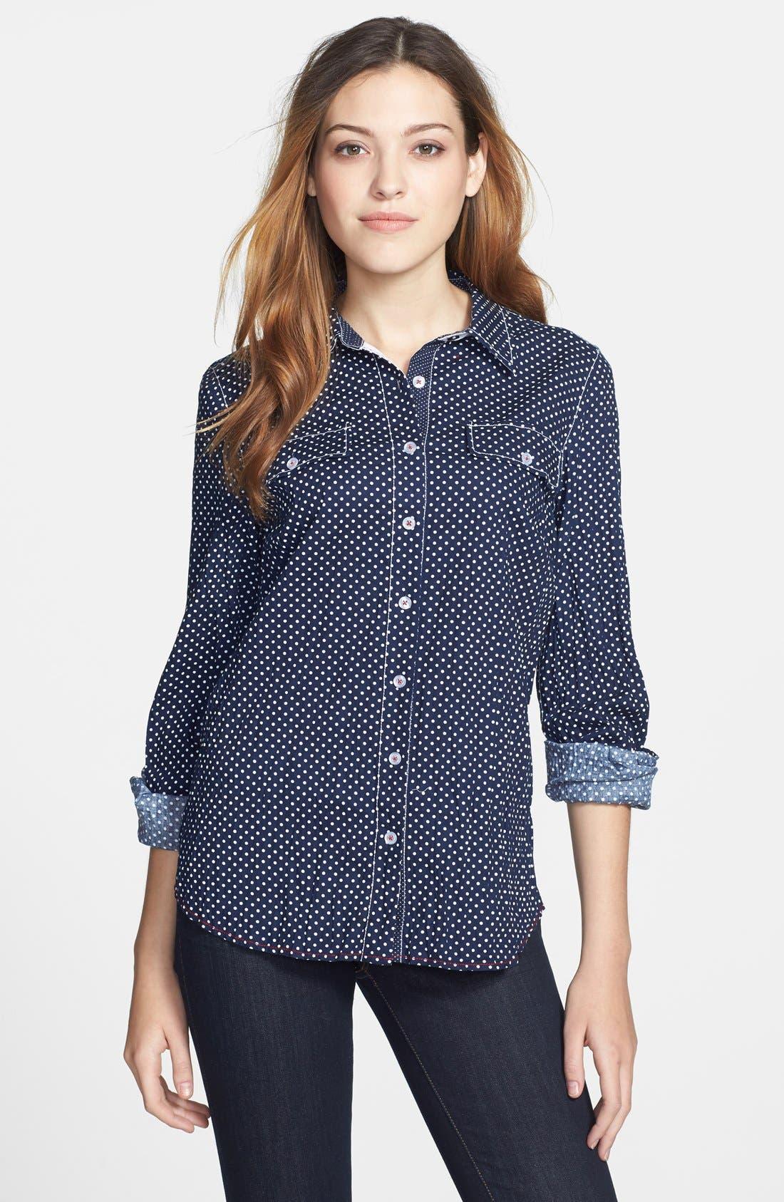 Alternate Image 1 Selected - Nexx Dot Print Cotton Shirt