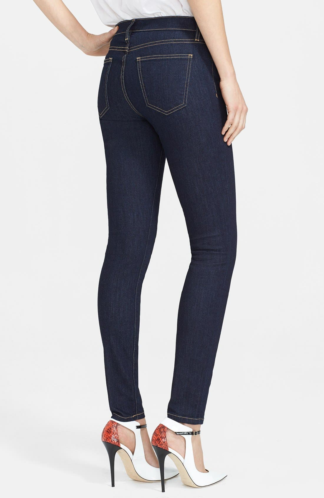 Alternate Image 2  - Current/Elliott 'The High Waist' Skinny Jeans (Rinse) (Nordstrom Exclusive)