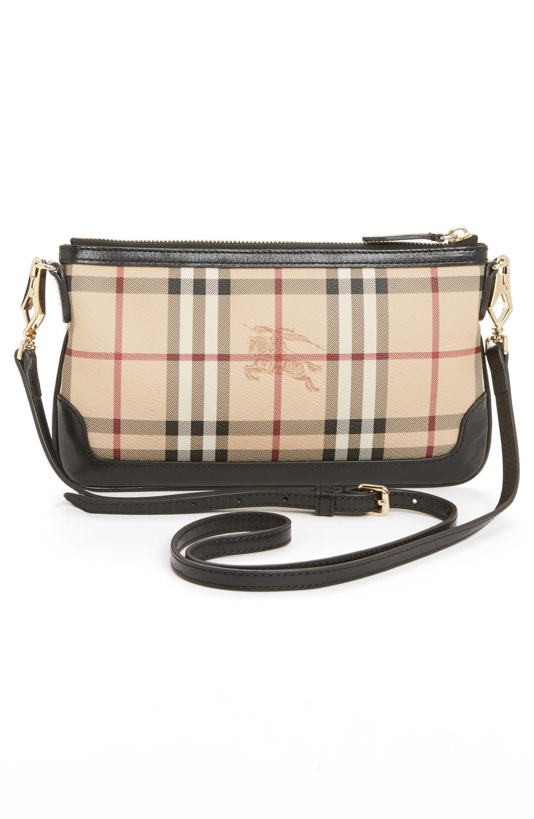 Alternate Image 4  - Burberry 'Peyton - Haymarket Check' Crossbody Bag
