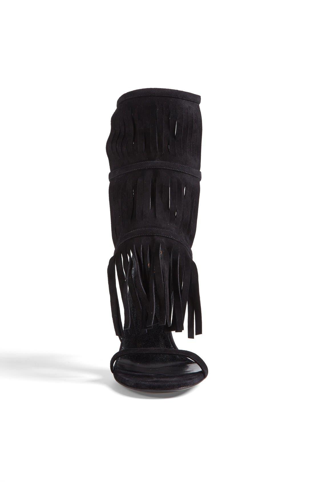'Becky' Sandal,                             Alternate thumbnail 3, color,                             Black
