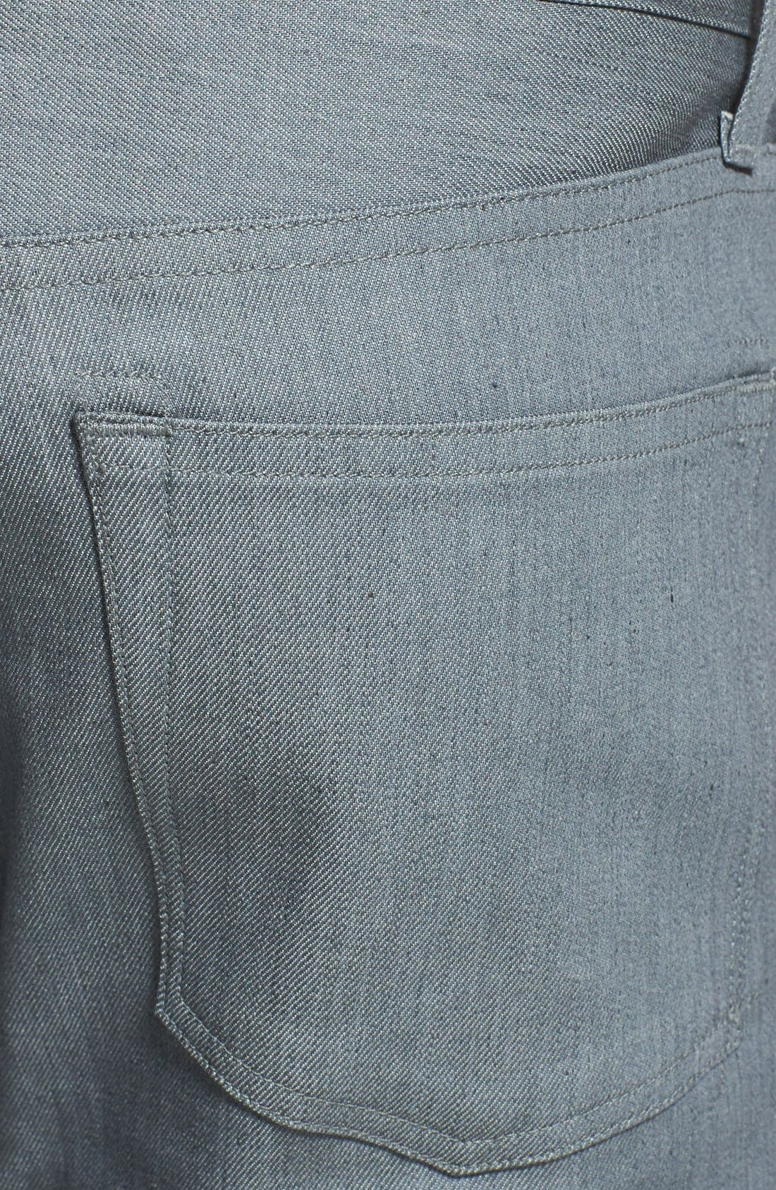 Alternate Image 4  - J Brand 'Kane' Slim Fit Jeans (Stretch Raw Silver)
