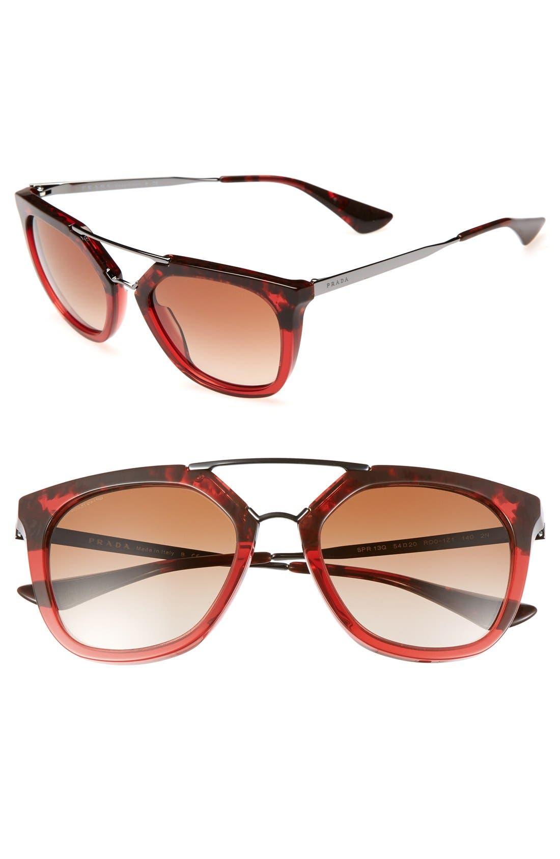 Alternate Image 1 Selected - Prada 'Pilot' 54mm Sunglasses