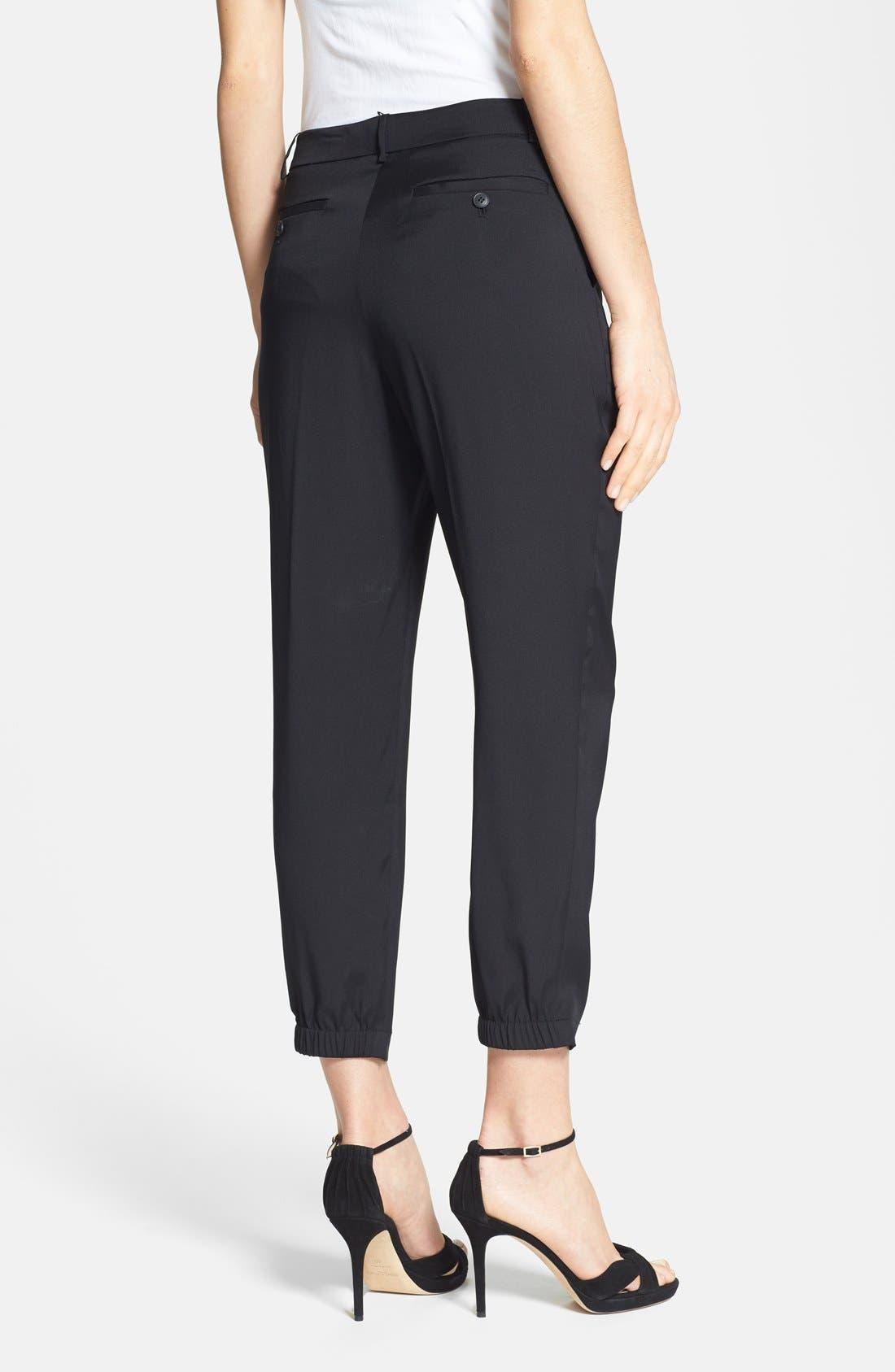 Alternate Image 2  - Halston Heritage Ankle Stretch Silk Pants