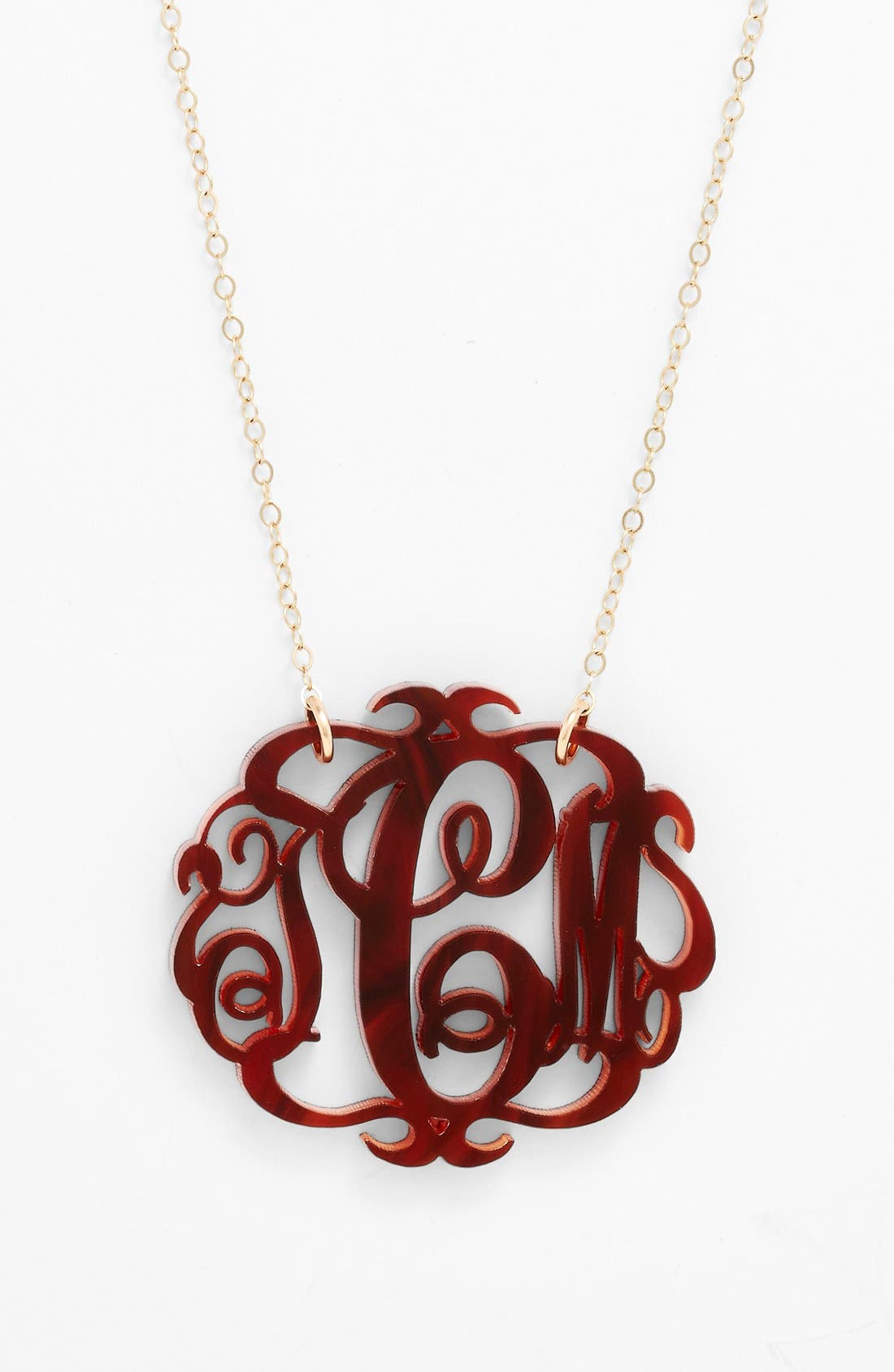 Alternate Image 2  - Moon and Lola Large Oval Personalized Monogram Pendant Necklace (Nordstrom Exclusive)