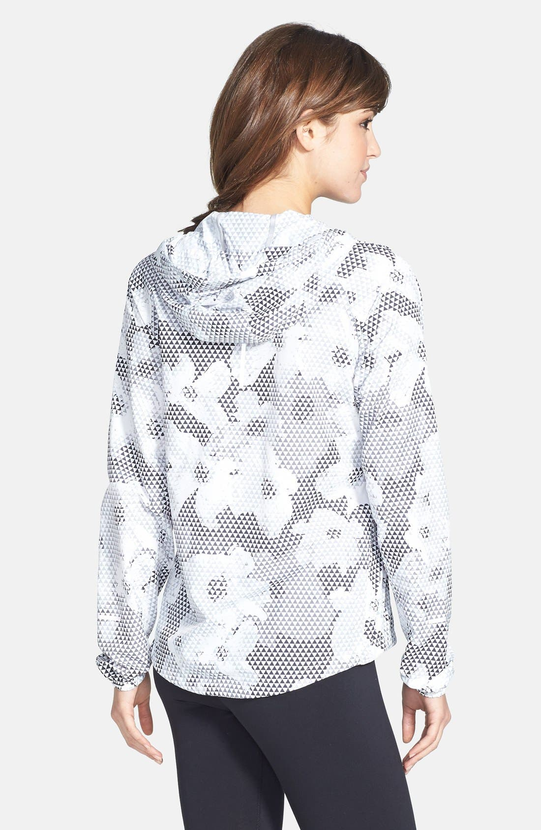 Alternate Image 2  - Nike 'Distance' Print Hooded Jacket