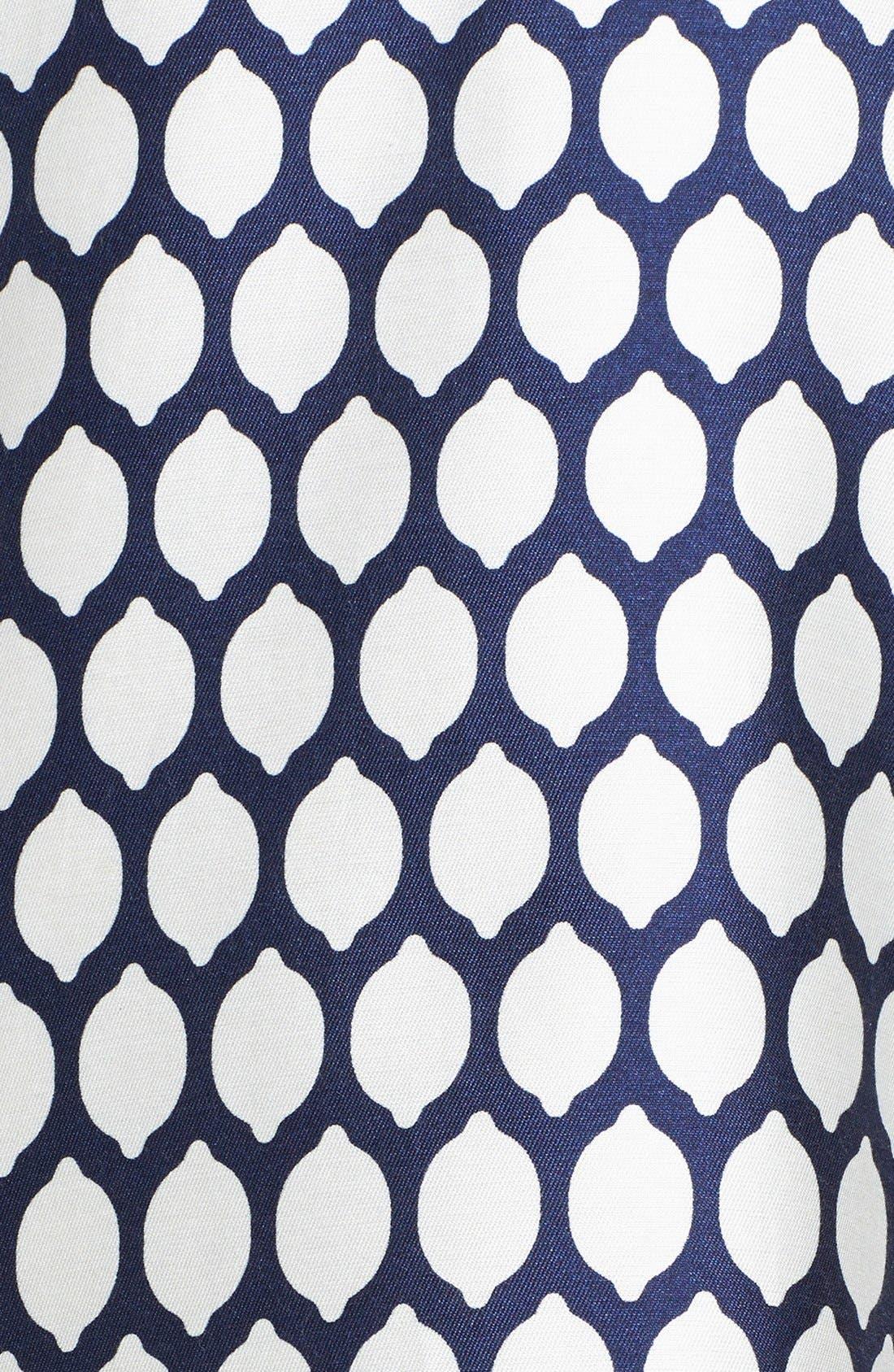 Alternate Image 4  - kate spade new york 'emrick' print cotton blend sheath dress