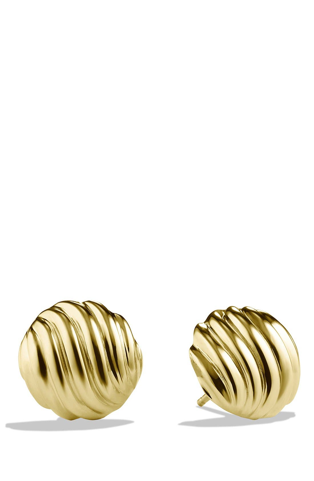'Sculpted Cable' Earrings in Gold,                             Main thumbnail 1, color,                             Gold