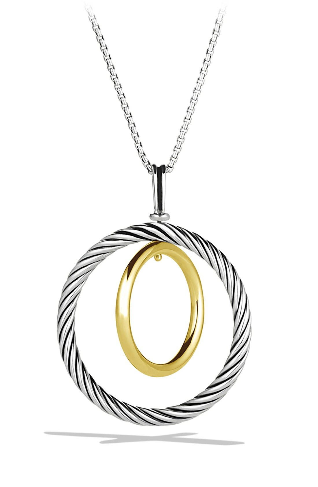 'Mobile' Pendant with Gold on Chain,                             Main thumbnail 1, color,                             Two Tone