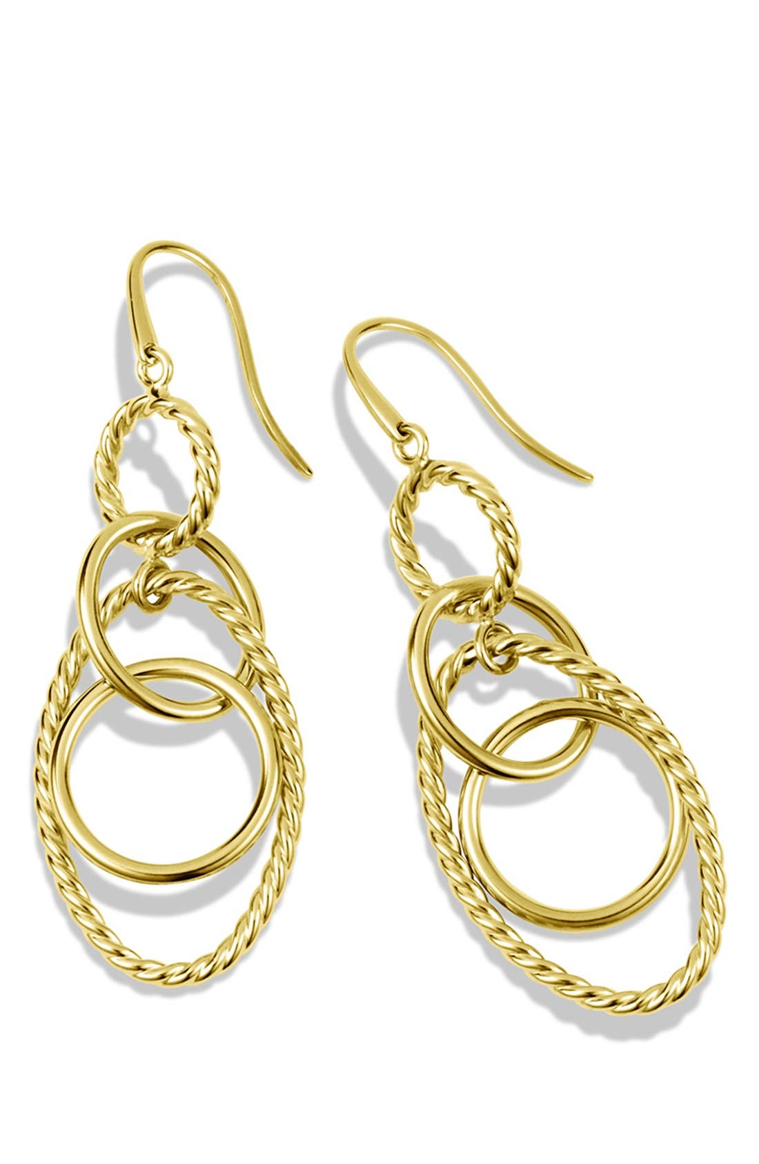 'Mobile' Small Link Earrings in Gold,                             Alternate thumbnail 2, color,                             Gold