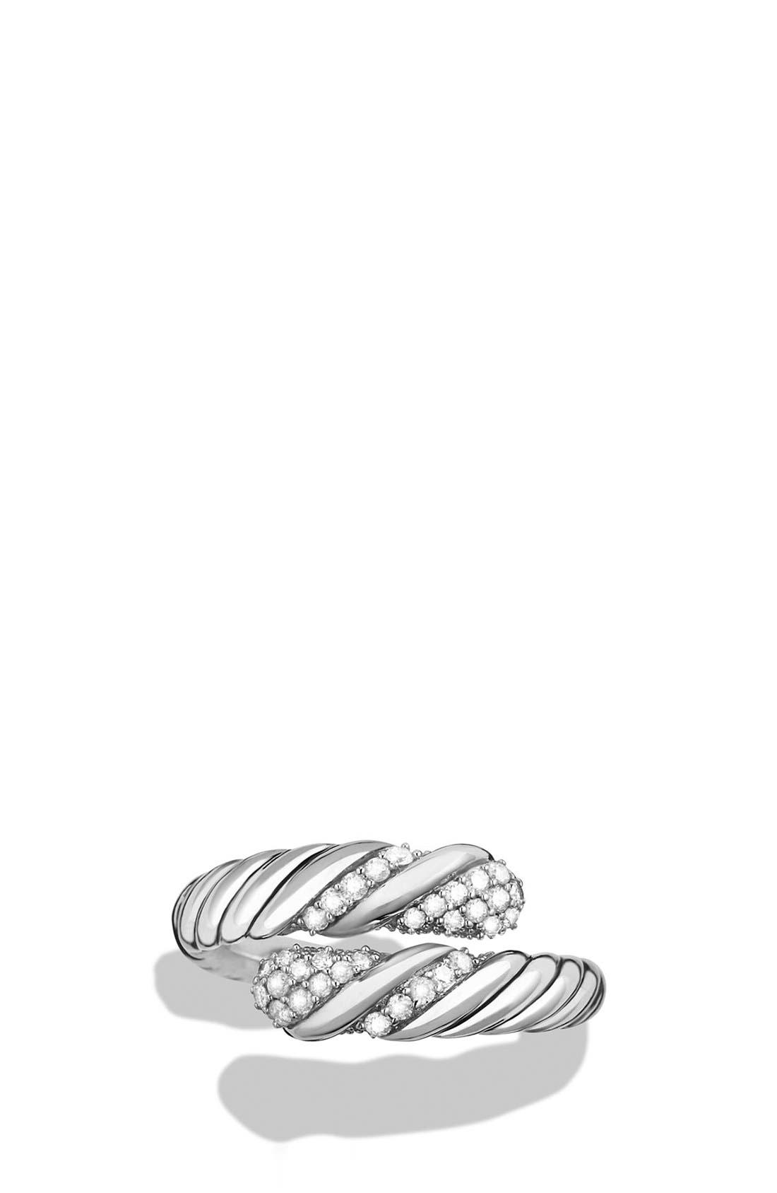 Alternate Image 3  - David Yurman 'Willow' Open Single Row Ring with Diamonds