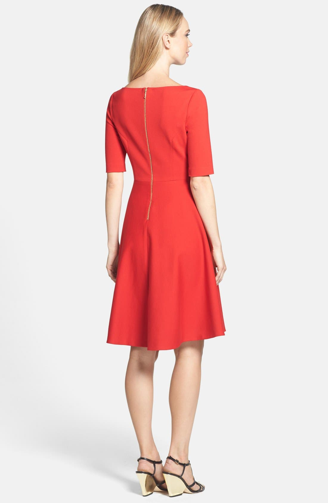 Alternate Image 2  - kate spade new york 'jada' stretch fit & flare dress