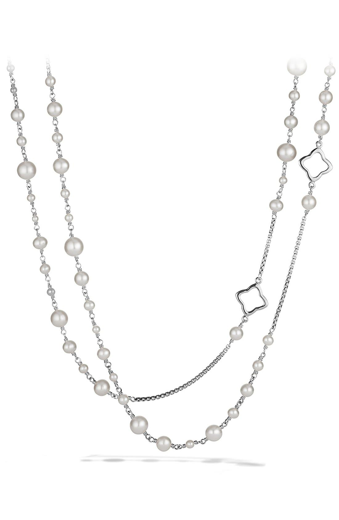 Pearl Chain Necklace,                         Main,                         color, Pearl