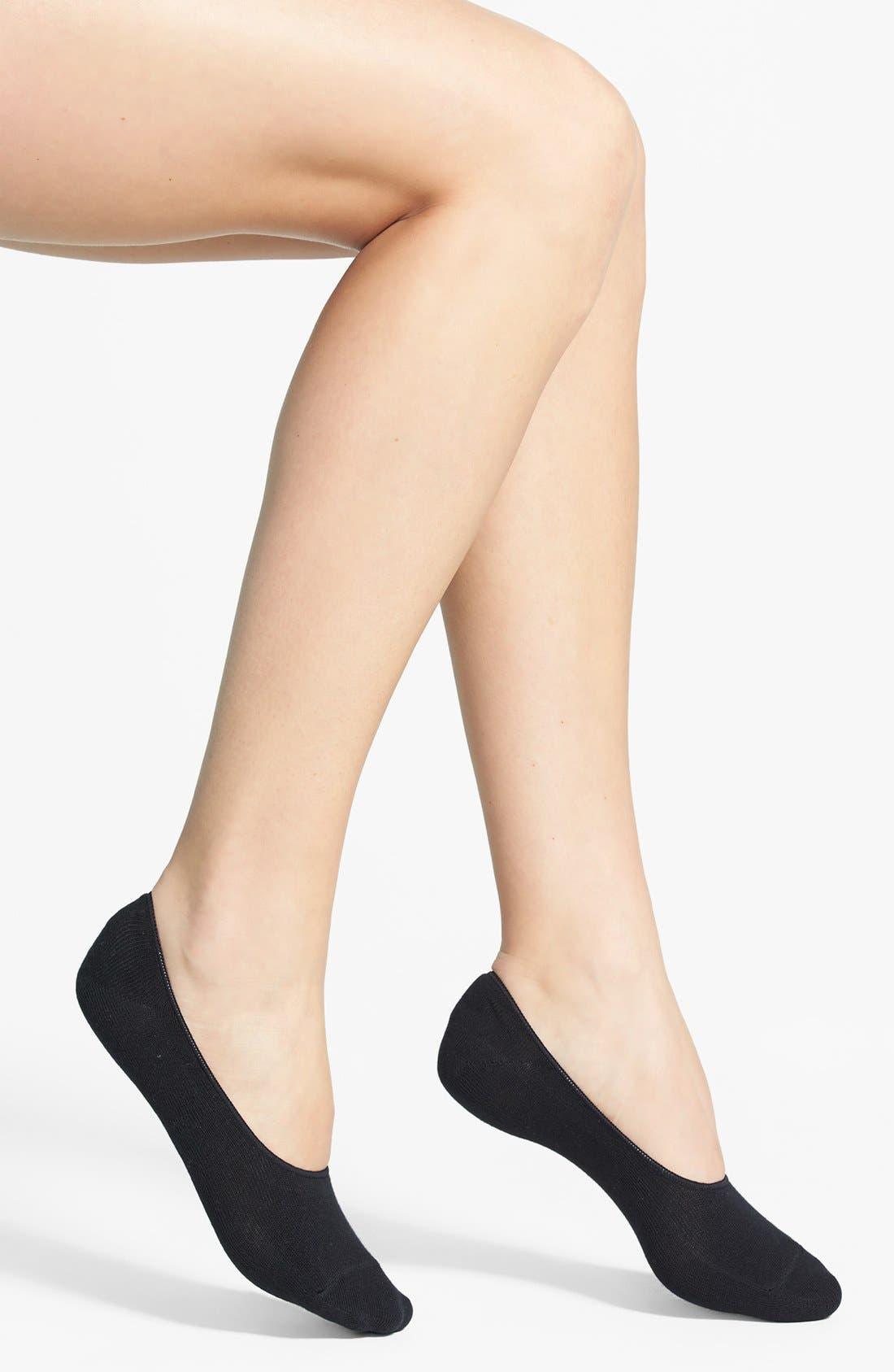 Liner Socks,                             Main thumbnail 1, color,                             Black