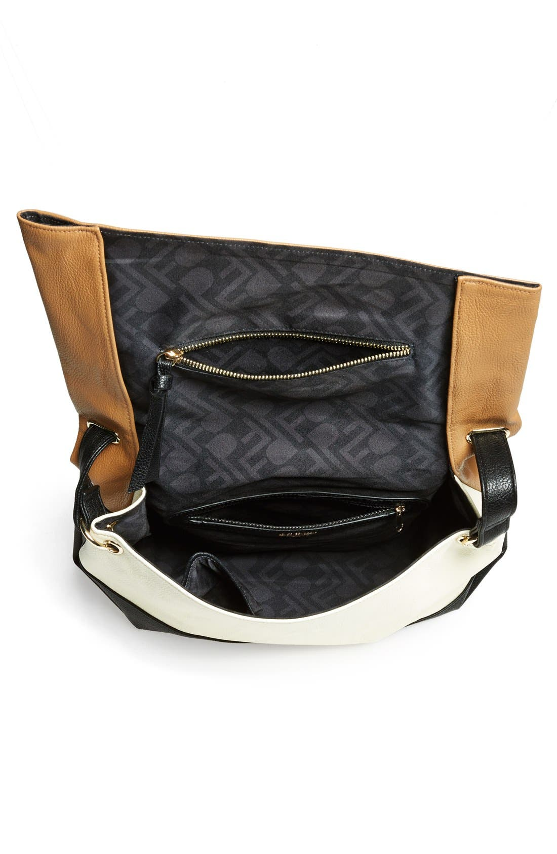 Alternate Image 2  - POVERTY FLATS by rian 'Large' Asymmetrical Faux Leather Crossbody Bag