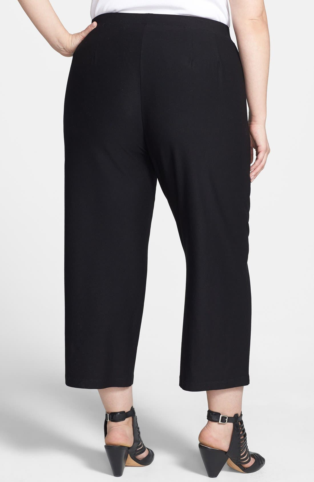 Alternate Image 2  - Eileen Fisher Cropped Wide Leg Pants (Plus Size)