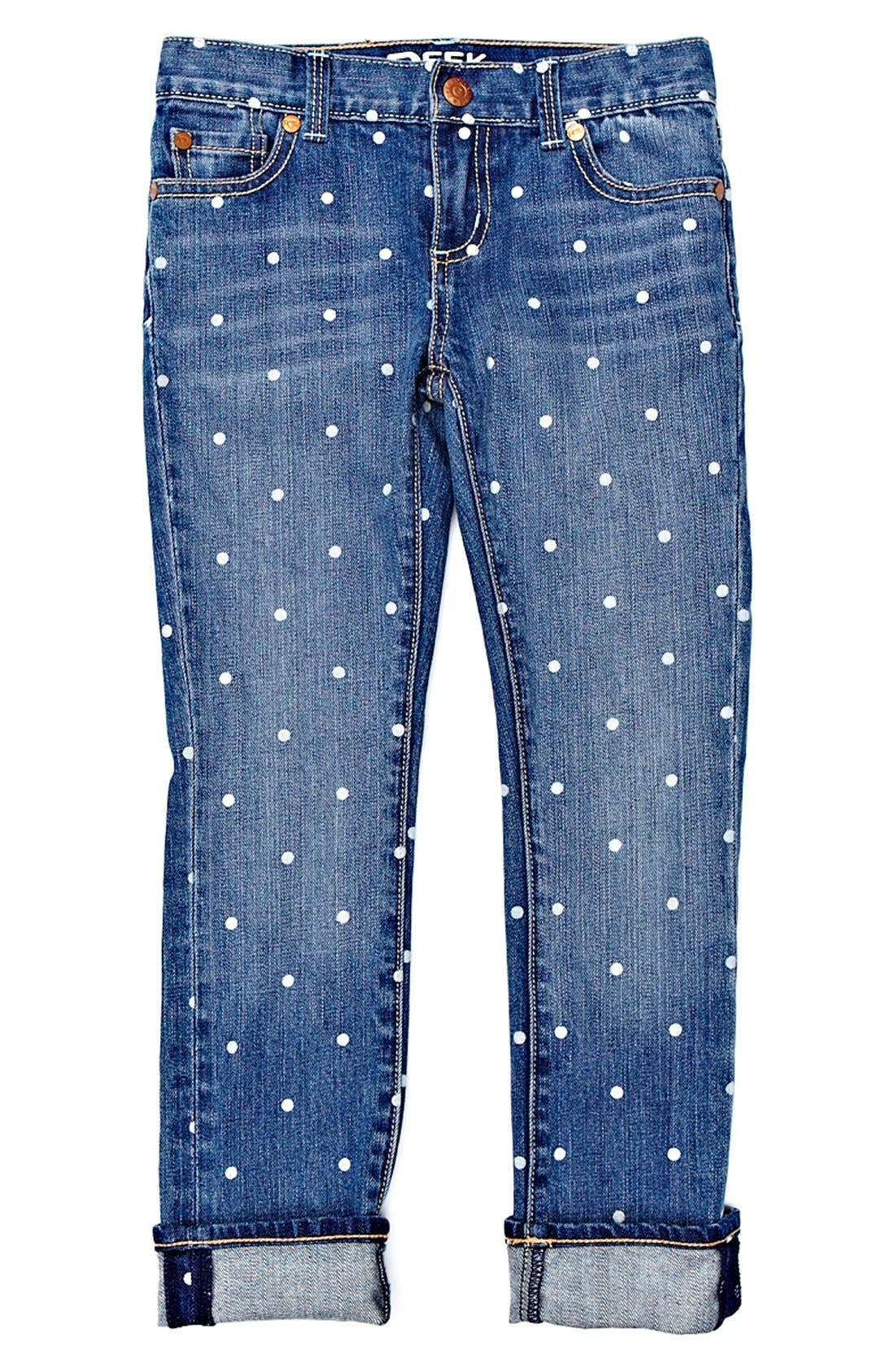 Alternate Image 2  - Peek 'Audrey - Dot' Jeans (Toddler Girls, Little Girls & Big Girls)