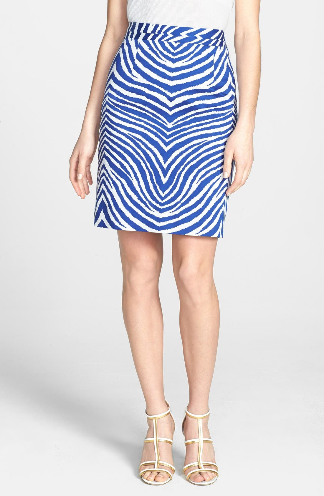 Alternate Image 1 Selected - Milly Print Pencil Skirt