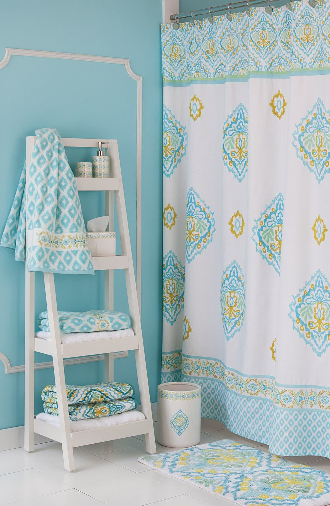 Alternate Image 2  - Dena Home Diamond Jacquard Bath Towel