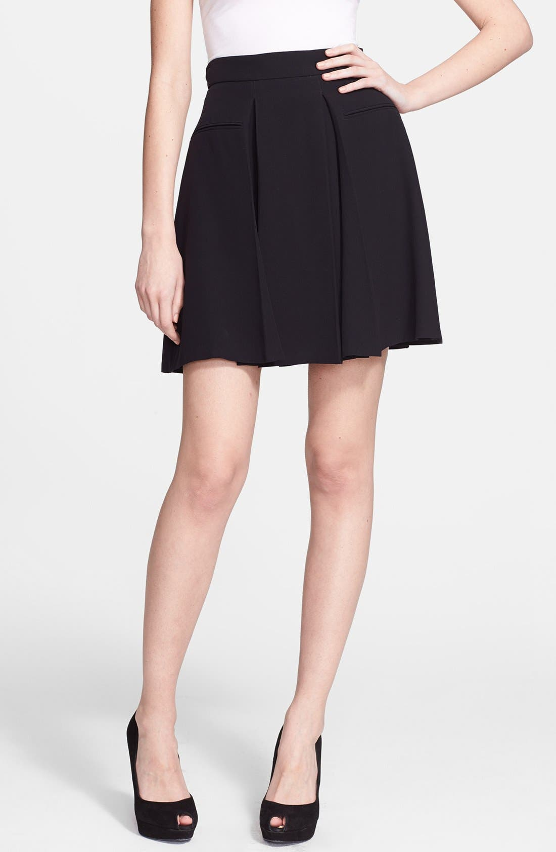 Alternate Image 1 Selected - Alexander McQueen Pleat Flared Skirt