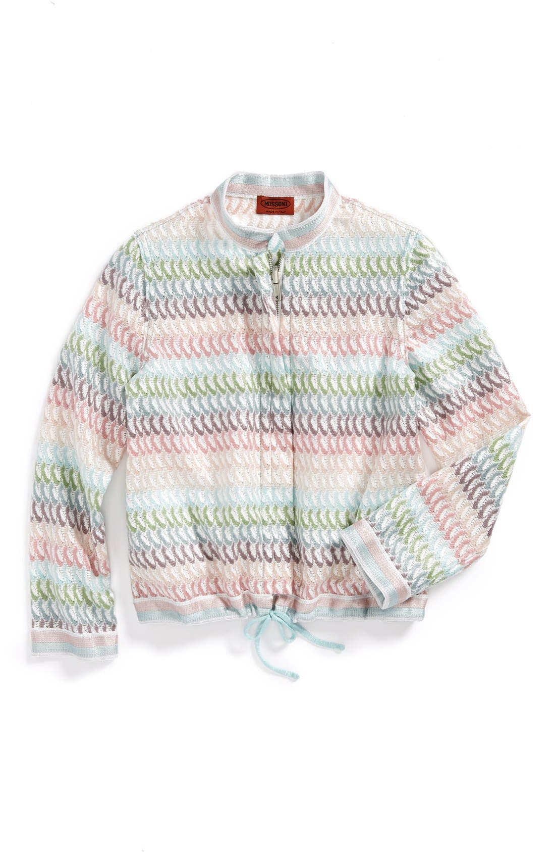 Alternate Image 1 Selected - Missoni Striped Petal Jacket (Toddler Girls, Little Girls & Big Girls)