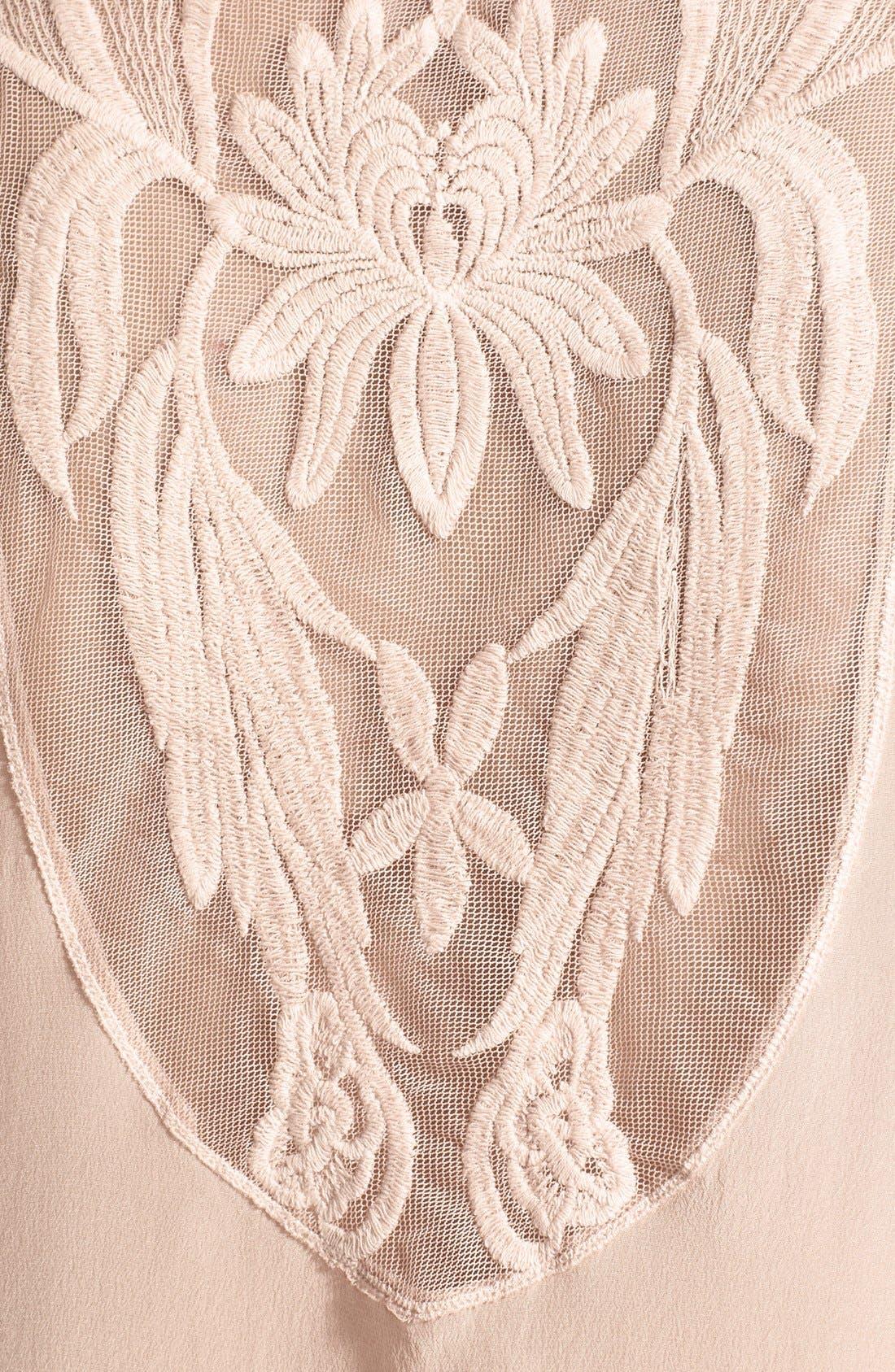 Alternate Image 3  - Daniel Rainn Lace Insert Silk Blouse