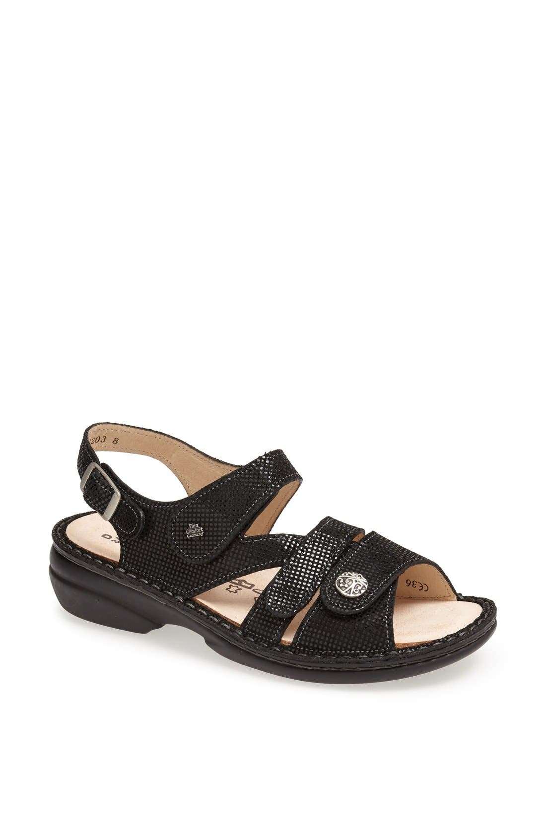 'Gomera' Sandal,                             Main thumbnail 1, color,                             Black