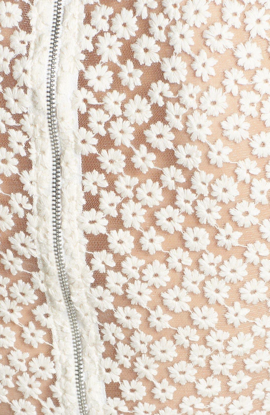 Alternate Image 3  - Ella Moss 'Taylor' Embroidered Mesh Fit & Flare Dress
