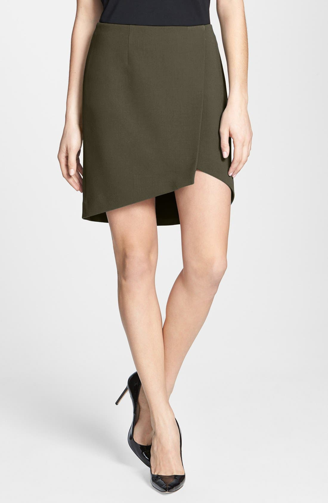 Main Image - Trouvé Asymmetrical Miniskirt