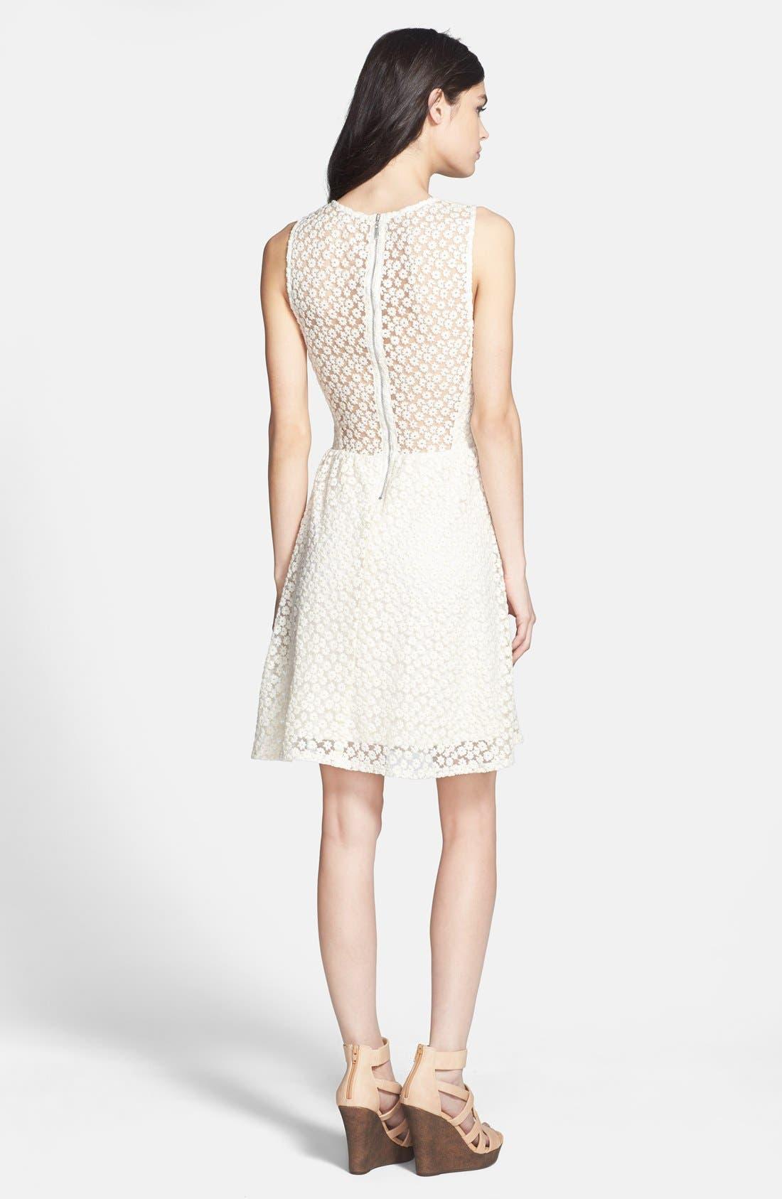 Alternate Image 2  - Ella Moss 'Taylor' Embroidered Mesh Fit & Flare Dress