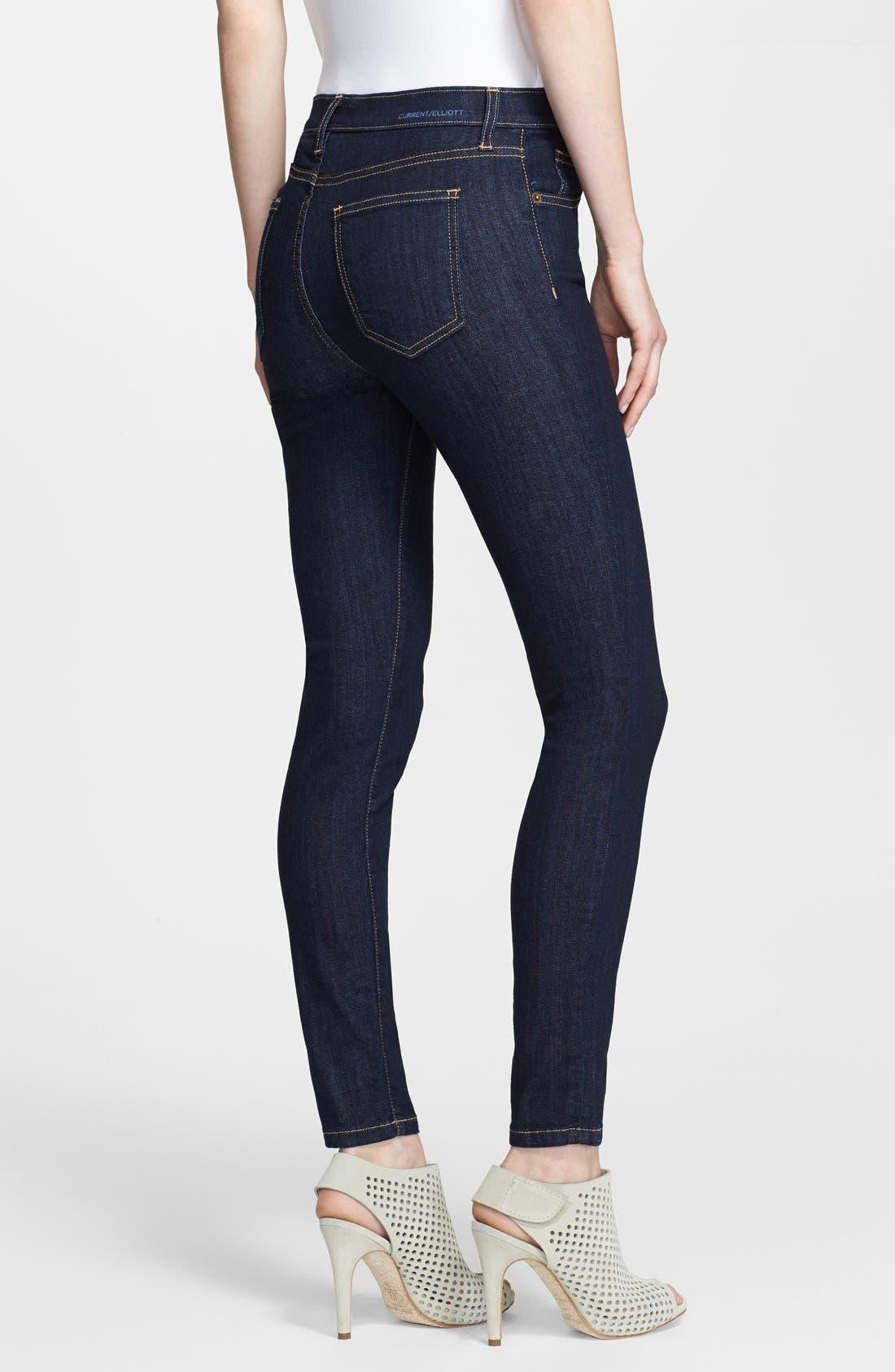 Alternate Image 2  - Current/Elliott High Waist Skinny Ankle Jeans (Rinse)