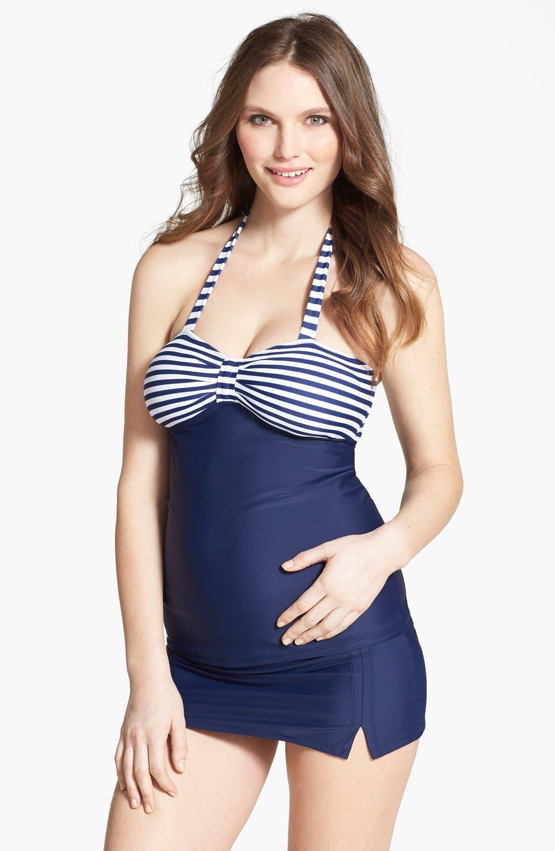 Main Image - Maternal America Maternity Tankini Swimsuit