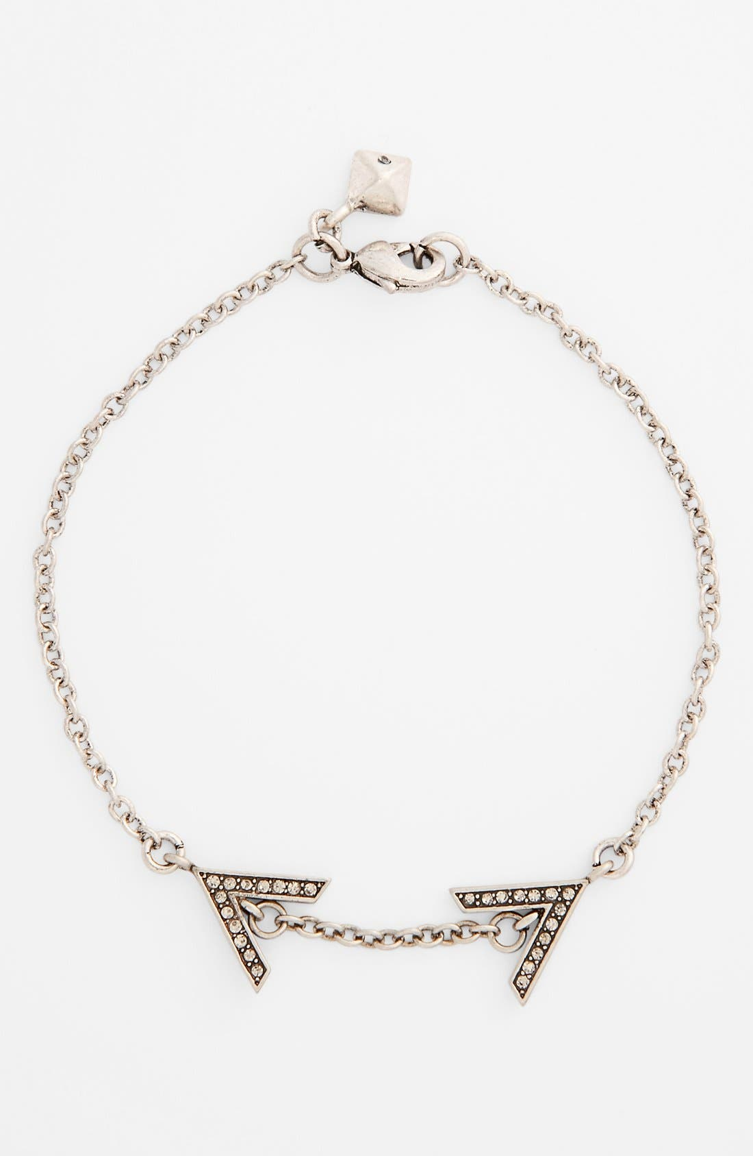 Alternate Image 1 Selected - Rebecca Minkoff 'Jewel Box' Double V Line Bracelet