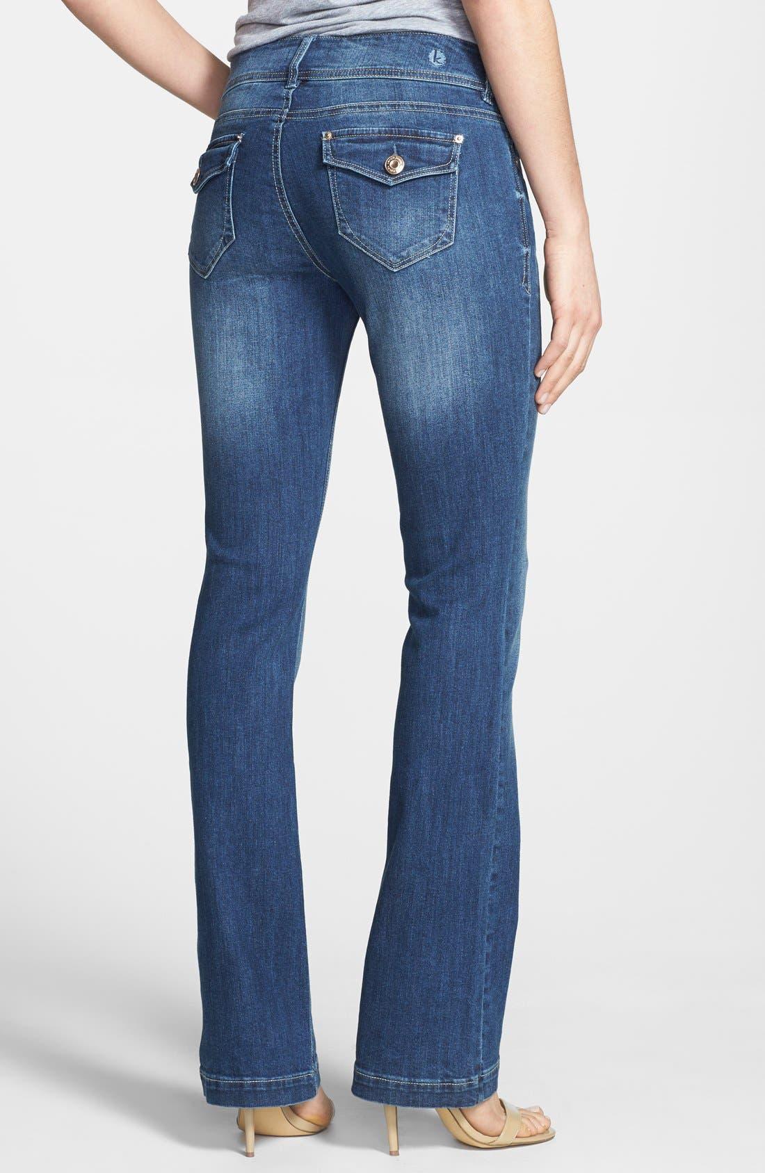 Alternate Image 3  - kensie Curvy Bootcut Jeans (True Blue)