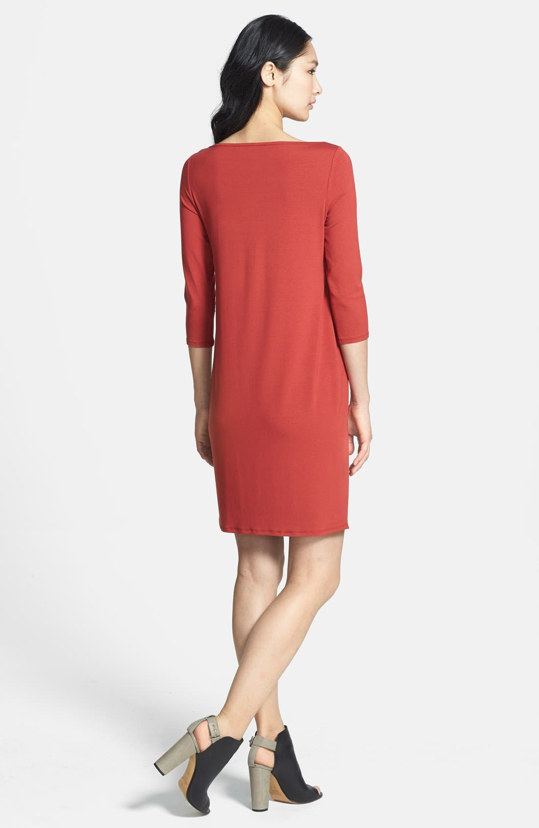 Alternate Image 2  - Eileen Fisher Bateau Neck Jersey Dress