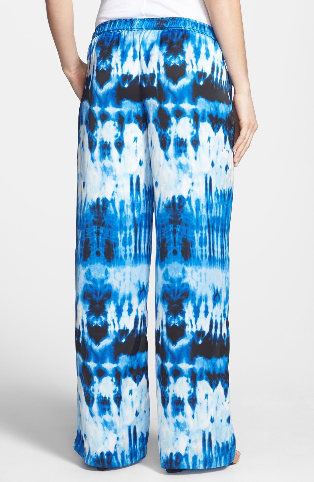Alternate Image 2  - MICHAEL Michael Kors Print Wide Leg Pants