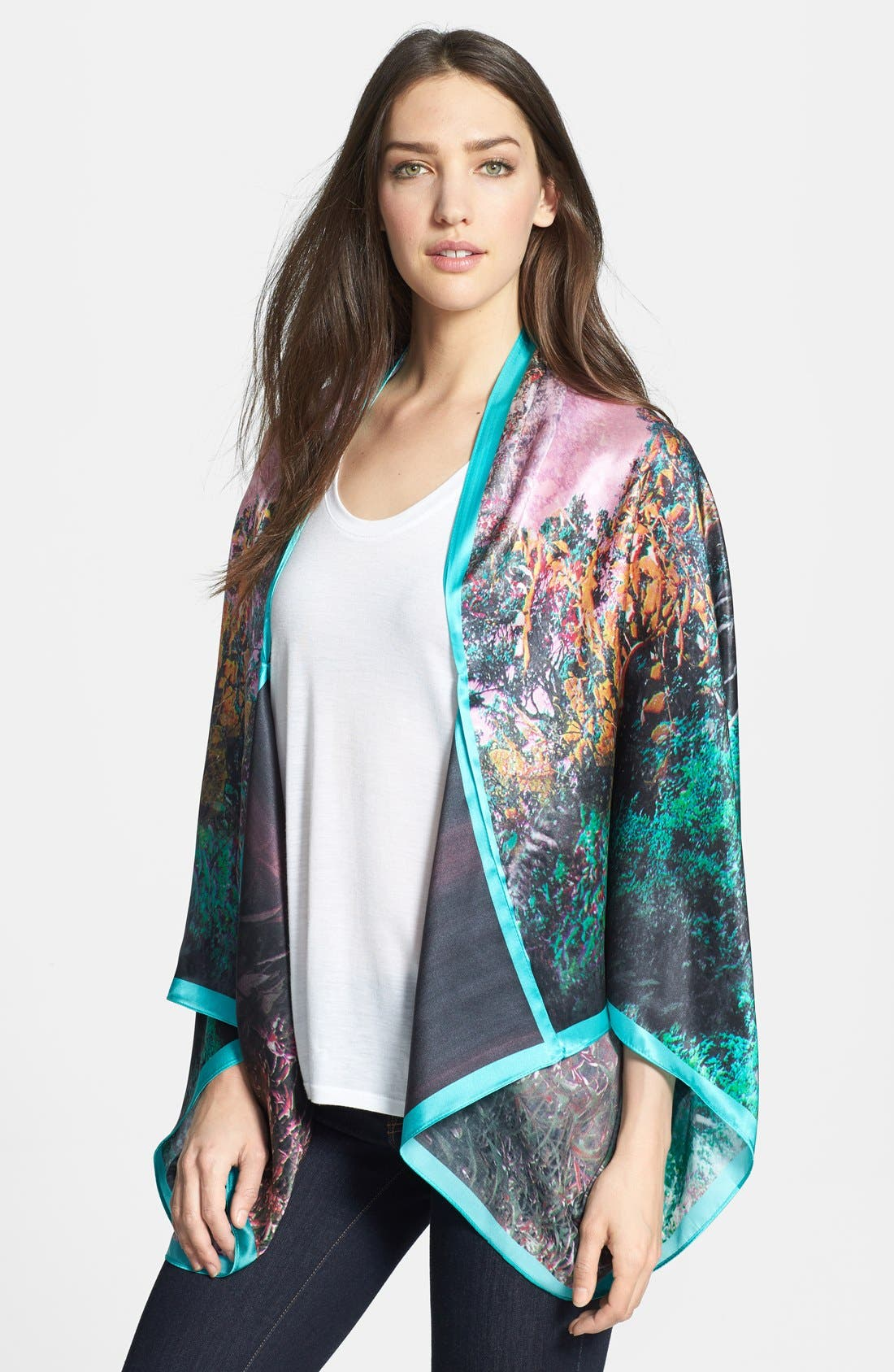 Main Image - Ted Baker London 'Misty' Draped Silk Vest