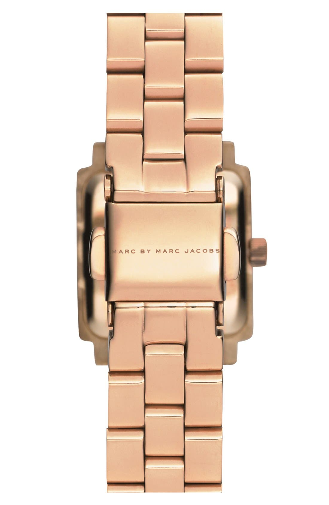 Alternate Image 2  - MARC JACOBS 'Katherine' Square Dial Bracelet Watch, 19mm