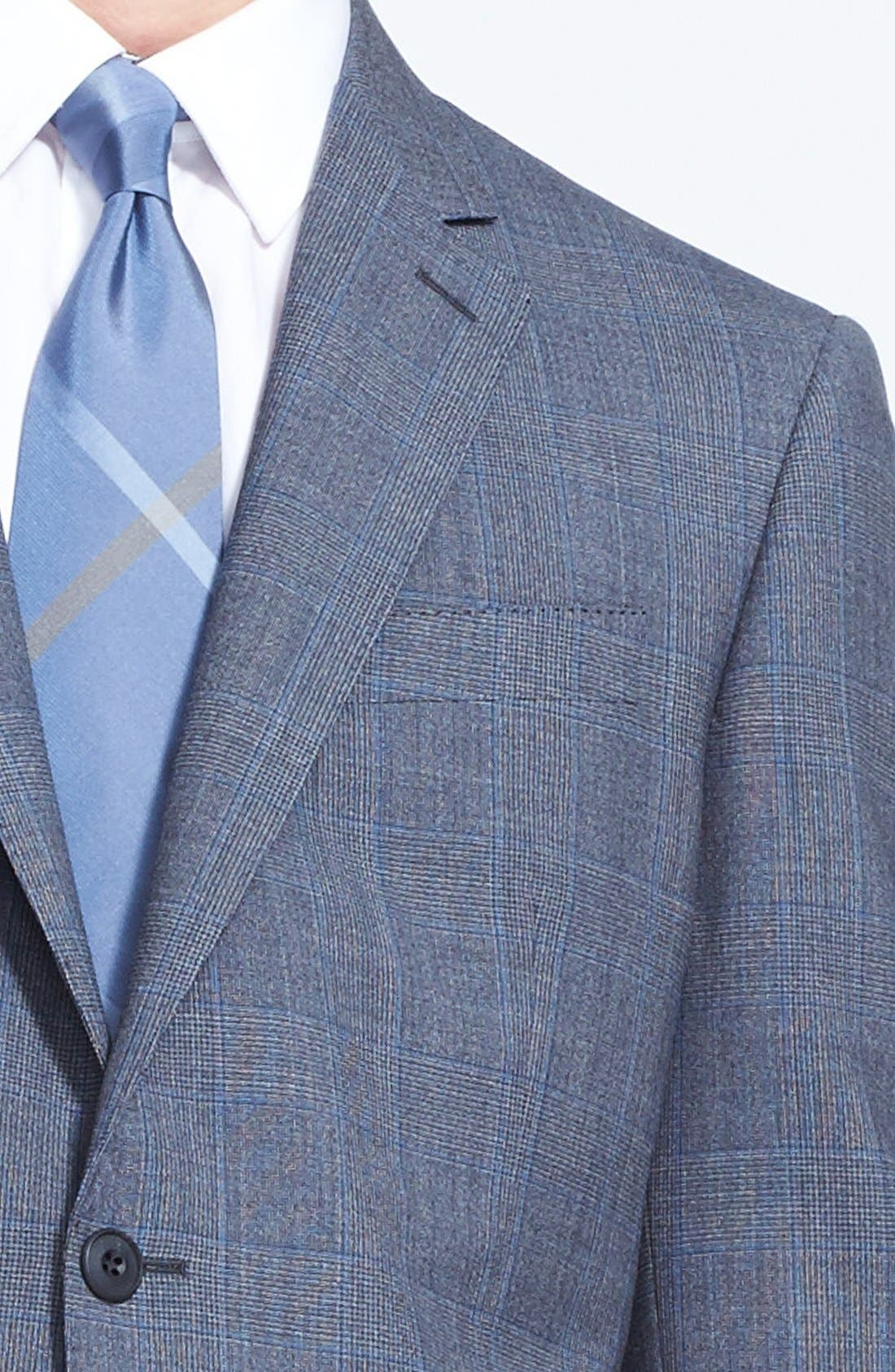 Alternate Image 6  - Burberry London 'Canbury' Glen Plaid Virgin Wool Suit